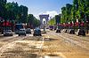 Arc de Triomphe Paris Nachmittag | Stock Foto