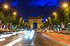 Arc de Triomphe Paris bei Sonnenuntergang | Stock Foto