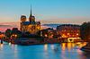 Kathedrale von Notre Dame de Paris bei Sonnenuntergang | Stock Foto