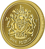 ID 4438495 | British money gold coin one pound with coat of arms | Klipart wektorowy | KLIPARTO