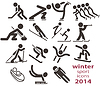 Wintersport-Icons