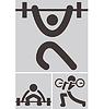 Gewichtheben-Symbole