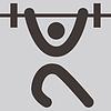 Gewichtheben-Symbol