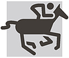 Векторный клипарт: конный значок