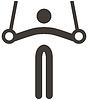 Векторный клипарт: Спортивная гимнастика значок