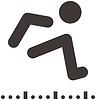 Векторный клипарт: Значок Прыжки в длину