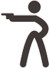 Векторный клипарт: Стрелялки значок