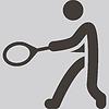Векторный клипарт: тенниса значок
