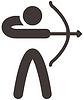 Векторный клипарт: Значок Стрельба из лука