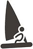 Векторный клипарт: парусный икона