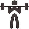 Векторный клипарт: 2487 - тяжелая атлетика значок