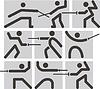 Векторный клипарт: Фехтование иконки