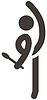 Векторный клипарт: Гимнастика по художественной значок