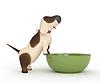 3d Hund mit Schüssel | Stock Illustration