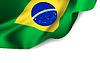 Wehende Flagge von Brasilien, Südamerika