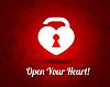 weißes Herz mit Schlüsselloch