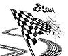 ID 4327647 | Rysunek flagi z szachownicą z toru opony | Klipart wektorowy | KLIPARTO
