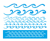 Seamless blue wave line pattern | Stock Vector Graphics