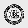 Tire tracks. on grey background | Stock Vector Graphics