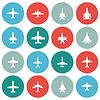Векторный клипарт: иконки самолетов