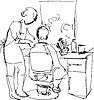 junger Mann im Friseurladen auf Master-
