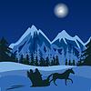Winter-Nacht im Gebirge