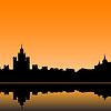 Moskau Stadt Silhouette Skyline