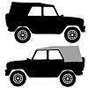 Set schwarz Silhouetten Autos. Abbildungen