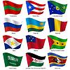 Stellen Flaggen der Welt souveräner Staaten.