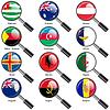 Set Flaggen der Welt souveräner Staaten Vergrößerungs