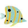 Векторный клипарт: абстрактная рыба
