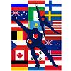 Eis-Skater Ländern