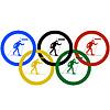 Biathlon und olympischen Ringe