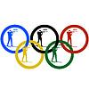 Biathlon und olympischen Ringe-
