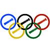Bob-und Olympischen Ringe