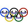 Curling und Olympischen Ringe