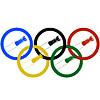 Bob-und Olympischen Ringe-