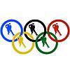 Eishockey und Olympia-Ringe