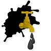 Векторный клипарт: Разлив нефти и кран