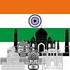 Векторный клипарт: Индия