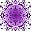 Violet round pattern | Stock Vector Graphics