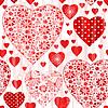 Grunge nahtlose Valentine Muster