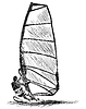 Windsurfen Skizze