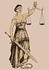 Symbol der Gerechtigkeit Femida