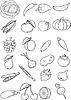 ID 4359228 | Set von Obst und Gemüse | Stock Vektorgrafik | CLIPARTO