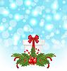 Weihnachts-Geschenk-Box mit Urlaub Dekoration