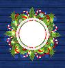 Weihnachtsferien Dekoration mit Grusskarte