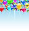 Holiday-Hintergrund mit Fahnen und Geburtstag