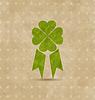 Auszeichnungsband mit Kleeblatt für St. Patrick `