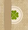Vintage-Karte mit vier Kleeblatt für St. Patrick `